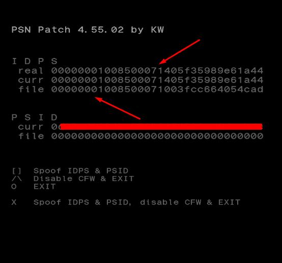 [Tutoriel] Changer le cID en CFW 4.xx avec PSN Patch 5